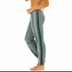 Aviator nation 5 Grey stripe heather sweatpants